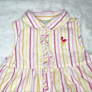 healthtex Matching Sets - HealthTex striped flamingo outfit